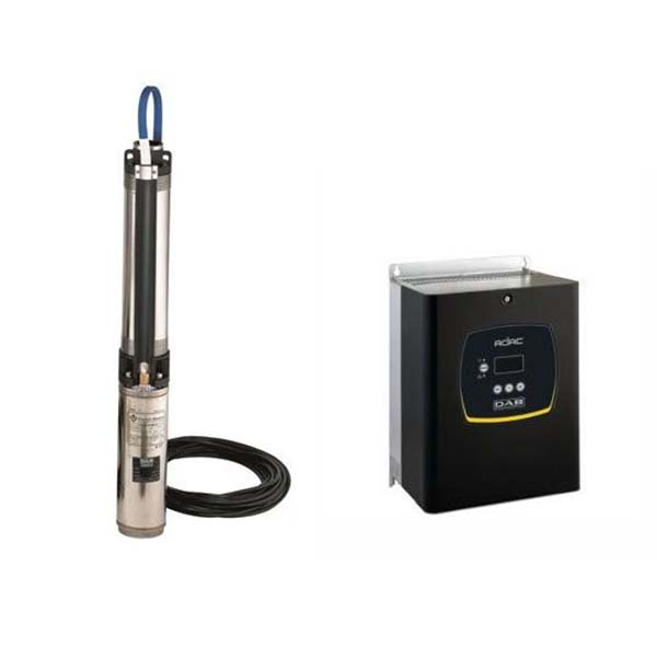 DAB S4 16/21 5.5HP KIT T400/50 4OL bronpomp set & DAB ADAC frequentieregelaar T/T 4,0 AC