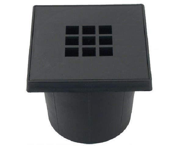 Emmerput kunststof 200 x 200 mm - onderaansluiting 75 mm